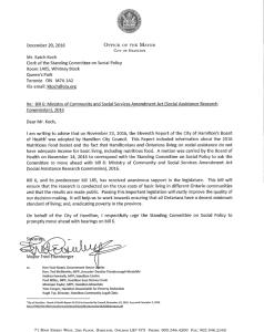 Letter from Hamilton's Mayor Regarding Bill 6
